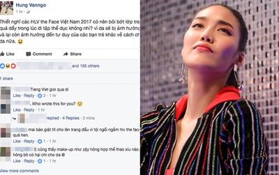 Chuyên gia trang điểm của Selena Gomez chê HLV The Face Việt đi tập thể dục mà son phấn quá dầy
