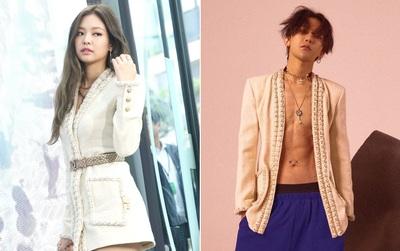 """Pha """"đụng hàng"""" lạ: G-Dragon và Jennie (BLACK PINK) """"mặc chung"""" áo Chanel, ai đẹp hơn?"""