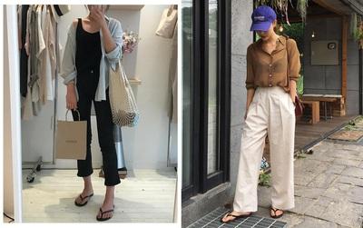 """Dép tông, dép lào giờ đã thành món đồ sành điệu, được các fashionista xứ Hàn diện chụp OOTD cực """"chất"""""""