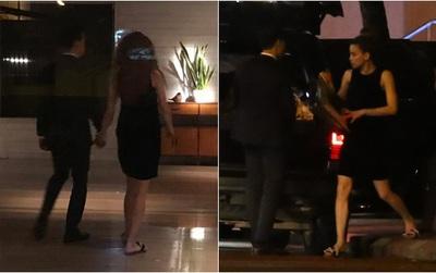 """HOT: Bắt gặp Hà Hồ - Kim Lý """"tay trong tay"""" đi ăn đêm rồi cùng về chung một nhà"""