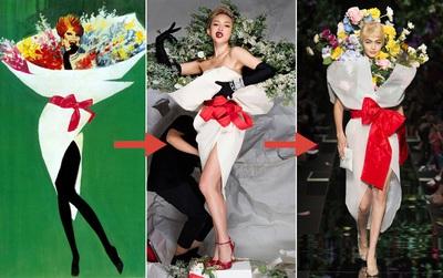 Từ bản phác thảo 1920 đến Tóc Tiên trên Elle 2016 và show Moschino 2018: Thời trang cũng chỉ lặp lại thôi mà!