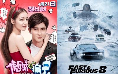 """Phim của Địch Lệ Nhiệt Ba """"khóc ròng"""" vì bị """"Fast & Furious 8"""" đè bẹp"""