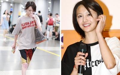"""Bận quần đùi ra sân bay, đi sự kiện không thèm makeup, """"nữ thần học đường"""" Trịnh Sảng ngày một xuề xòa khó hiểu"""