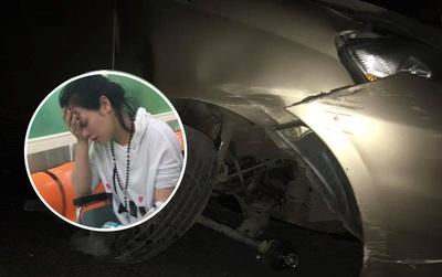 Ca sĩ Nhật Kim Anh bị tai nạn khi đi diễn, xe hơi hư hỏng nặng
