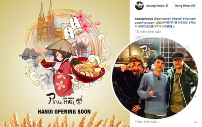 Seungri (Big Bang) xác nhận mở nhà hàng riêng tại Hà Nội, có thể sẽ đến Việt Nam dự lễ khai trương