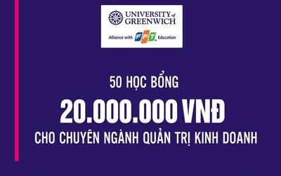 Cơ hội nhận học bổng 40 triệu đồng ngành QTKD từ đại học hàng đầu UK