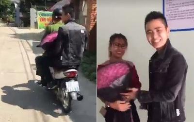 Thêm thông tin thú vị về người chồng đi tặng hoa cho vợ bị bắt vì không đội mũ bảo hiểm, được luôn CSGT chở đi tặng