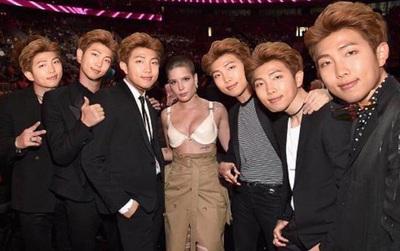 Rap Monster (BTS) nhờ photoshop ảnh chụp với Halsey và nhận được cái kết bất ngờ