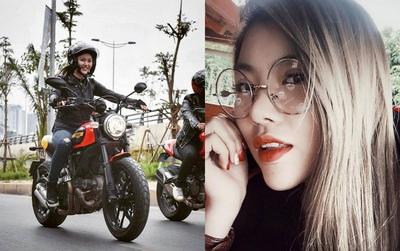 Nhan sắc cô gái cưỡi Ducati gây chú ý trong đoàn diễu motor tưởng nhớ Trần Lập