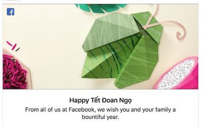 Facebook đã chào mừng ngày Tết Đoan Ngọ bằng một hình ảnh cực dễ thương