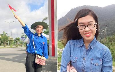 Nữ sinh tình nguyện khuyết một tay, điều phối phân làn giao thông tại điểm thi đại học