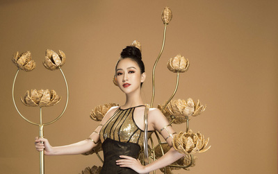 Không phải Áo dài, đây mới là trang phục truyền thống mà Hà Thu lựa chọn để tranh tài tại Miss Earth 2017