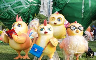 Ngắm nhìn những tiểu cảnh xinh xắn đang được trang trí tại đường hoa Nguyễn Huệ trước ngày khai mạc