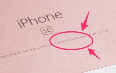 """Nếu bạn thấy iPhone có chữ """"Assembled in India"""" thì nó không phải hàng giả đâu nhé"""