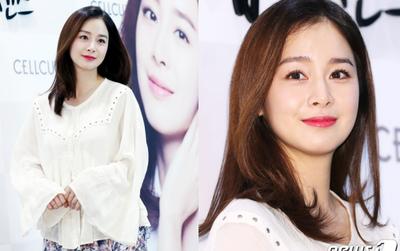 Chỉ 4 ngày sau tin mang thai, Kim Tae Hee đã xuất hiện với nhan sắc nữ thần như thế này