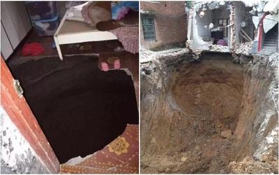 Đột ngột rơi xuống hố khi phòng ngủ sụt lún, người chồng đáng thương đào đất sâu 15m vẫn không tìm thấy vợ