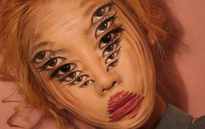 Ngắm nhìn những khuôn mặt make-up ảo giác 3D, bạn sẽ không khỏi lú lẫn