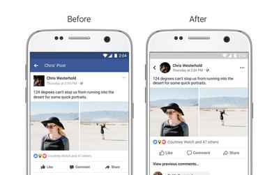 Facebook bắt đầu thay đổi giao diện mới, xanh thành trắng, vuông thành tròn