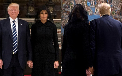 """Sau 2 ngày làm chồng """"quê độ"""", cuối cùng bà Trump đã """"nắm lấy tay anh"""" một cách ngọt ngào rồi"""