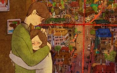 Bộ tranh: Càng yêu nhau chân thành, càng hạnh phúc với những điều nhỏ nhặt nhất