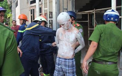 Đà Nẵng: Nam thanh niên ngáo đá tự bôi vôi toàn thân, leo lên tầng 3 nhảy múa rồi dọa tự tử