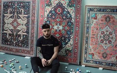 Cứ tưởng là thảm Ba Tư thật nhưng đây là những bức tranh được vẽ hoàn toàn bằng tay