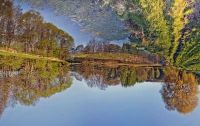 Nhìn bức tranh phong cảnh hồ nước bạn có thấy ngược không, điều đó sẽ nói lên tính cách của bạn