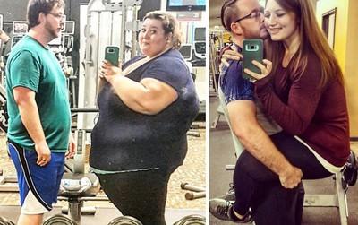 Hành trình yêu là cùng giảm béo của đôi vợ chồng ngoại cỡ