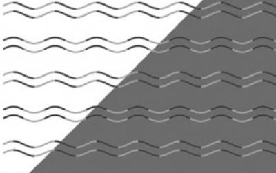 """Ảo giác quang học đặc biệt này sẽ khiến bạn phải """"căng mắt"""" nhìn xem chúng có dạng zig-zag hay hình sin"""