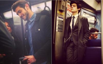 """Chùm ảnh chứng minh hóa ra tàu điện ngầm mới thực sự là """"thiên đường"""" trai đẹp"""