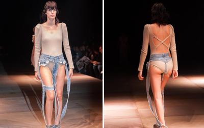 Mẫu quần jeans lọt khe chuẩn phong cách nóng như thế này thì làm sao phải mặc