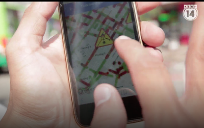 Clip: Người Sài Gòn lần đầu trải nghiệm ứng dụng chống kẹt xe trên smartphone