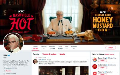 Hãng đồ ăn nhanh KFC chỉ theo dõi 11 người trên Twitter và lý do khiến mọi người hoàn toàn kinh ngạc