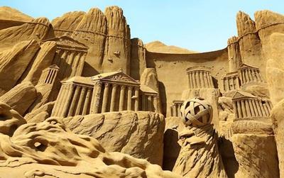 Ghé thăm vương quốc cát sống động ngoài đời thực