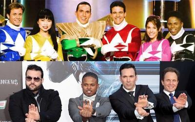 5 anh em siêu nhân bản huyền thoại 1993 tái hợp trên thảm đỏ khi đã ở tuổi trung niên
