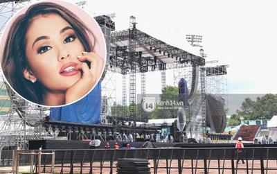 """Chùm ảnh: Toàn cảnh sân khấu siêu """"khủng"""" của Ariana Grande tại SVĐ Quân Khu 7 trước giờ G"""