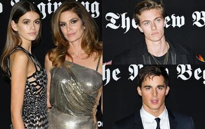 Đêm tiệc toàn siêu mẫu đẹp trai xinh gái: Mẹ con Cindy Crawford, Lucky Blue Smith, thầy giáo đẹp nhất thế giới