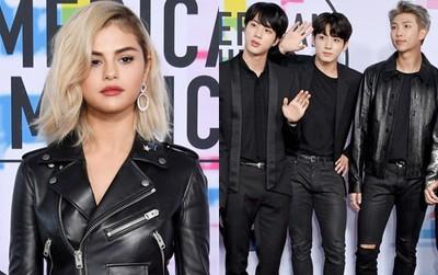 Thảm đỏ AMA 2017: Selena Gomez lạ lẫm với tóc vàng, BTS xuất hiện điển trai cùng dàn sao quốc tế