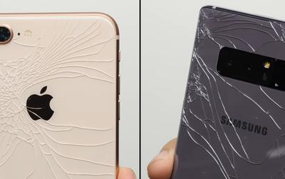 iPhone 8 Plus và Galaxy Note8 đọ sức trong thử nghiệm thả rơi, kết quả cuối cùng sẽ khiến bạn bất ngờ