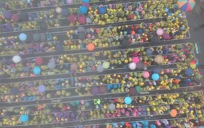 """Cảnh tượng """"biển người"""" đi lễ chùa đầu năm nhưng xếp ngay hàng thẳng lối khiến nhiều netizen ngạc nhiên"""