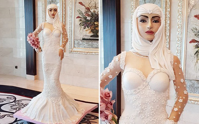 Cô dâu Ả Rập sang chảnh này thật ra là một chiếc bánh gato có thể ăn được