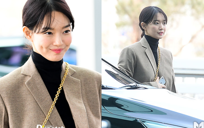 Xuất hiện hiếm hoi sau tin Kim Woo Bin bị ung thư, Shin Min Ah đã khiến sân bay náo loạn với nhan sắc rực rỡ