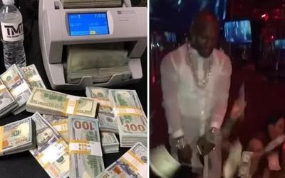 Mayweather khoe hàng ngàn tờ 100 đô kiếm được từ CLB thoát y