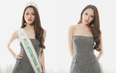 Hoa hậu Hương Giang xinh đẹp rực rỡ trong ngày đầu về Việt Nam