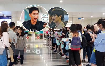 Cập nhật: Fan tập trung ngày một đông để đón Lee Seung Gi, Yook Sung Jae và dàn sao đình đám tại sân bay Nội Bài