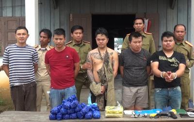 """Triệt phá đường dây ma túy """"khủng"""" xuyên quốc gia, bắt giữ 5 đối tượng trang bị súng K59"""