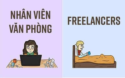 12 điều khác nhau chuẩn không cần chỉnh giữa freelancers và nhân viên văn phòng