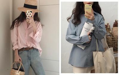 Sơ mi màu pastel - chiếc áo cực yêu mà các fan của áo sơ mi không thể không sắm mùa Xuân/Hè này