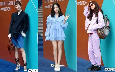 """Seoul Fashion Week: siêu mẫu Hàn khiến loạt người đẹp đình đám lu mờ vì ăn mặc quá """"dị"""", Hyomin diện đồ như váy ngủ"""