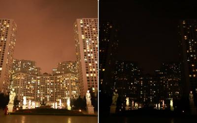 Chùm ảnh: Những địa điểm nổi tiếng Hà Nội trước và sau khi tắt đèn hưởng ứng Giờ trái đất!